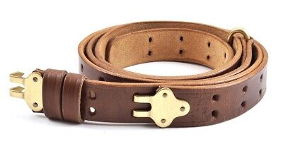 M1907 Military Leather Rifle Sling Ww1 Marked Premium Drum Dyed Leather