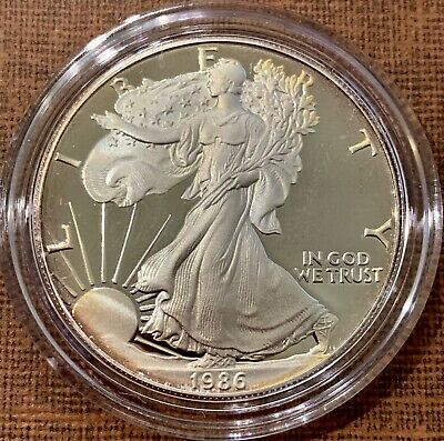 1986-S $1 American Silver Eagle Proof Coin One Ounce Fine Silver .999