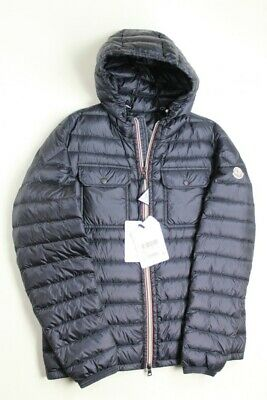 e53d4a7e6 $1160 MONCLER DOURET Quilted Nylon Jacket with Hood Size 4 / Large Navy Blue