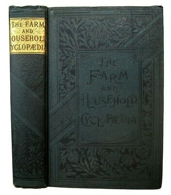 1888 FARM & HOME GUIDE Antique COOKBOOK Rural Architecture HORSE Bees TOOLS Old