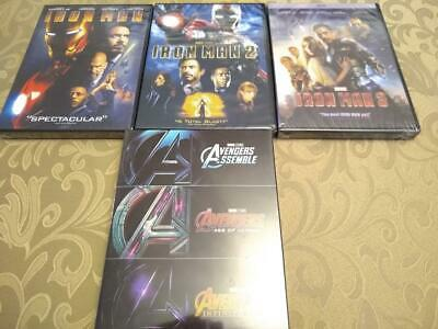 Avengers & Iron Man 1-3 Trilogy 6 Marvel Movie Collection DVD w/ Infinity War