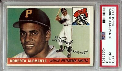 Roberto Clemente 1955 Topps Baseball Card Graded Psa Vg Ex 4 Pirates 164