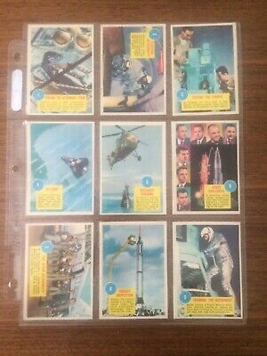 Topps Astronauts 3D Complete 55 Card Set Glasses Repro Wrapper Unmarked Checlist