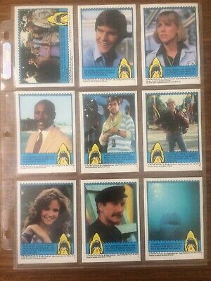 1983 Jaws III 3D Complete 44 Card Set Plus Glasses and Wrapper