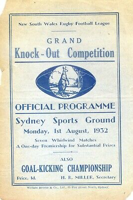 1932 Rugby League Knockout Competition