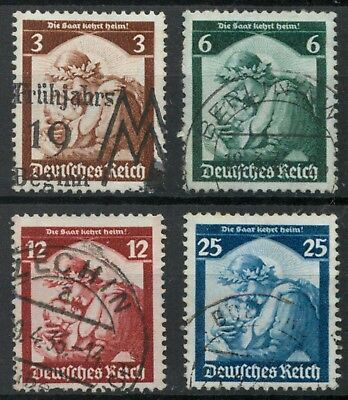Germany 1935 Saar Restoration set Mi 565-568 SG 562-565 used *COMBINED SHIPPING*
