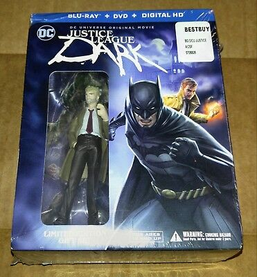 New Justice League Dark Blu-ray/DVD/DC + Graphic Novel & Figure Bestbuy USA