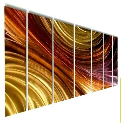 Statements2000 3D Metal Wall Art Panels Abstract Purple Gold Decor by Jon Allen