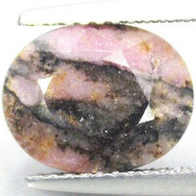 Natural 3.86ct Oval Pink Black Rhodonite 11771