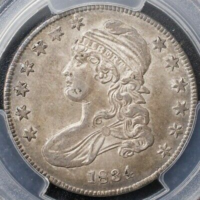 1834 Capped Bust Half Dollar, Overton O-113 -PCGS AU53-Sm Date/Sm Ltrs-R.1-CAC