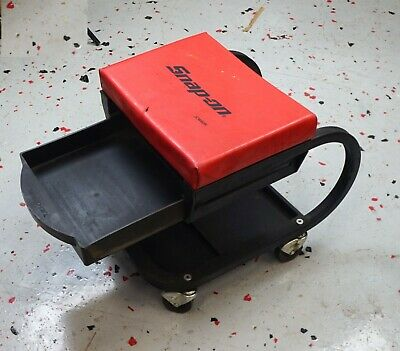 Snap-on JCW8OR Workman Mechanics Padded Seat Creeper with Tray