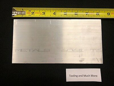 "1/4"" thk  x 4.00"" ALUMINUM  Flat Bar, plate 6061 8.00"" long   Lathe or milling"