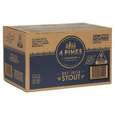 4 Pines Stout Beer Case 24x330ml Bottles