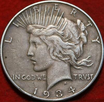 1934-D Denver Mint Silver Peace Dollar