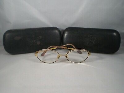 139d55998f5a VINTAGE GIANNI VERSACE MADE IN ITALY EYE GLASSES MOD G72 S COL 07M w/ CASES