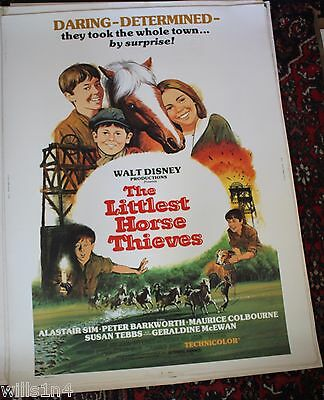 1977 The Littlest Horse Thieves Walt Disney rare rolled original Movie Poster
