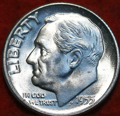Uncirculated 1955-S San Francisco Mint Silver Roosevelt Dime