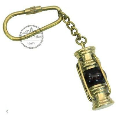 Nautical Brass Lantern Key Chain Collectible Key Ring Vintage Item for Gifted
