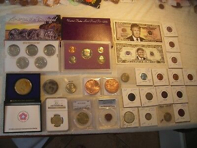 29 NGC,PCGS slabbed coin lot unc,gem bu,silver,Gold,Commemorative coin's,TRUMP