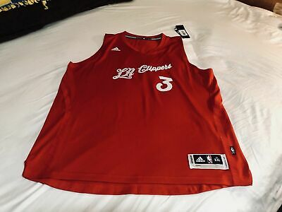 buy popular 2f7f0 2b7ba NWT CHRIS PAUL Clippers adidas Red Christmas Stitched Jersey Men's XXL  AUTHENTIC