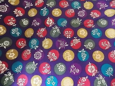 WTW Fabic Artistic Expressions Floral Flower Asian Splendor Pink BTY  Quilt