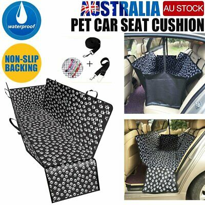 Pet Car Seat Cover Waterproof Non-slip Dog Paw Print Pattern Protect Hammock Mat