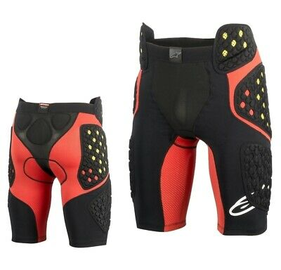 Alpinestars Sequence Pro Shorts MX Enduro Motocross Protektion schwarz rot