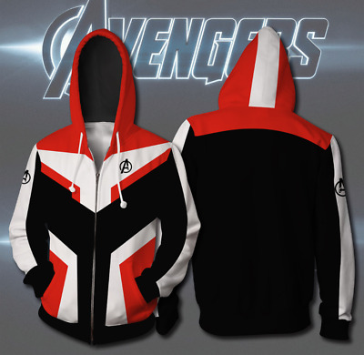 2019 Avengers 4 Hoodie Cosplay Superhero Advanced Tech Jacket Sweatshirt Costume