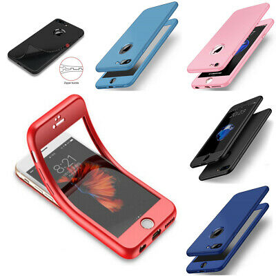 Thin Shockproof Hybrid 360 TPU Gel Cover Case For Apple iPhone 8 7 6 5 Plus