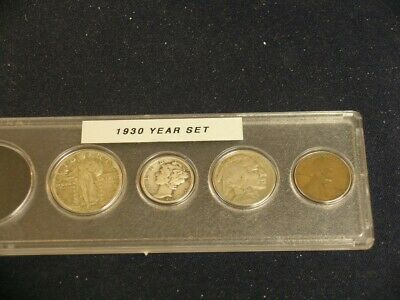 1930 Vintage Circulated Year Set - Nice 4-Coin Set