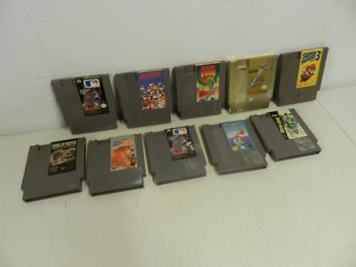 Lot of 10 Nintendo NES Original Game Cartridges Zelda, Mario, Wheel of Fortune