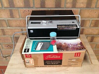 Vintage Toshiba Gt-621P College Ace Solid State Tape Recorder, Collectable