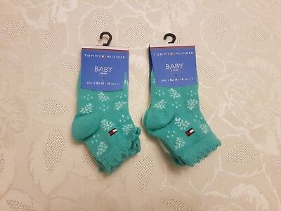 Tommy Hilfiger Baby Boys Socks Bundle x 4 Pairs. Green Size UK 1-3 Infant