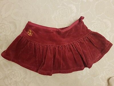 Ralph Lauren Baby Girls Skirt With Matching Knickers. Red Age 12 Months