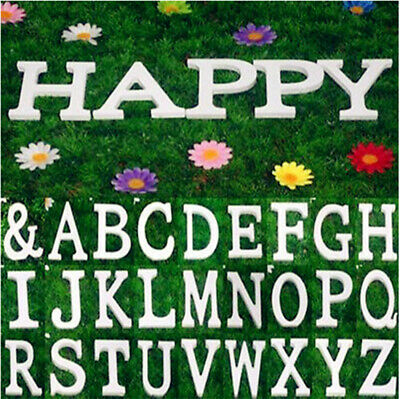 10cm Alphabet Wall Sticker DIY Decor Wood English Letters Standing Hanging White
