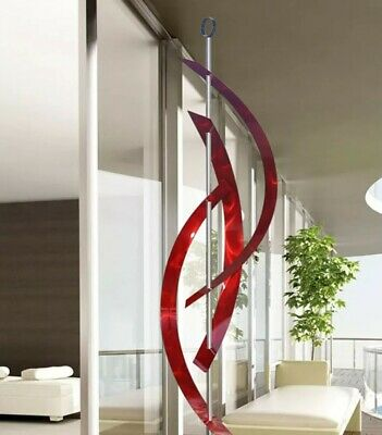 Statements2000 Metal Sculpture Large Abstract Modern Red Yard Decor by Jon Allen
