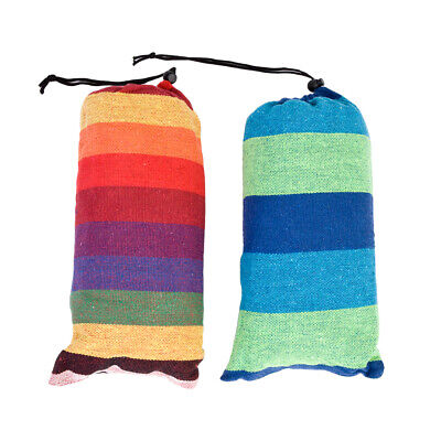 Portable Polyester & Cotton Rope Hanging Hammock Swing Camping Outdoor Bed Q7M4