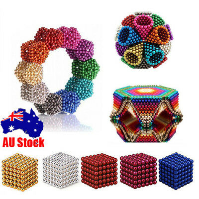 216 3/5mm Magic Magnetic DIY Balls Magnet Sphere Neodymium Beads Cube Kids Adult