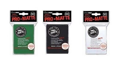 x50 Ultra Pro Matte Deck Protector Sleeve Standard Size Gaming Cards 50  .