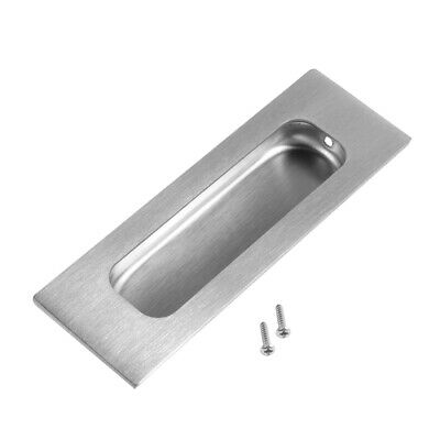 "4-3/4"" x 1-3/5"" Recessed Sliding Door Handle Flush Pull 304 Stainless Steel"