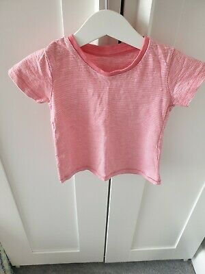 Matalan Baby Girls 6-9 Months Pink Tshirt New Without Tag