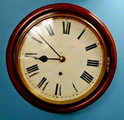 Vintage Railway Style Wall Clock with Key/Pendulum - Spares/Repair/Attention