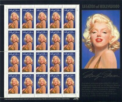 1995 MARILYN MONROE: Legends of Hollywood Series Mint NH Sheet 20 - 32¢ Stamps