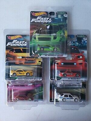 2019 Hot Wheels Fast And Furious B Set - Original GTR R33 S14 RX7 Jetta Eclipse