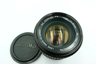 [ Excellent+++++ ] MINOLTA MC ROKKOR PG 50mm f/1.4 MF Prime Lens MC From JAPAN