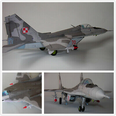NEW DIY 1/33 Russian MIG-29 Air Fighter Plane 3D Paper Model Military  Puzzle Kit
