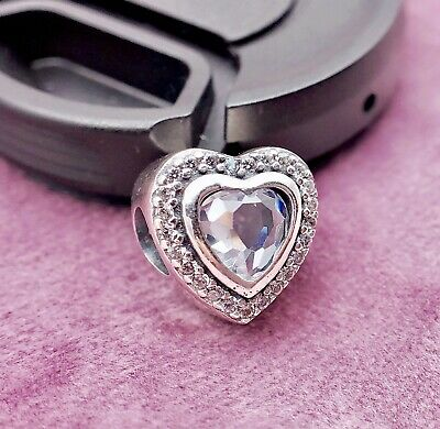 Authentic Pandora silver 925 ALE Sparkling SWEET Heart Love Charm Bead 797608