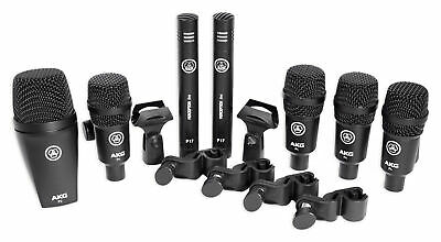 AKG Drum Set Session I (7) Microphone Kit w/ Bass/Overhead/Snare/Tom+Clamps+Case
