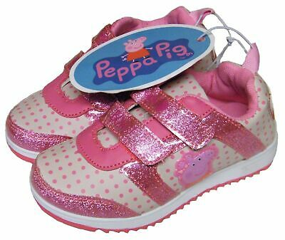 Infants Kids Girls Cute Pink/white Peppa Pig Trainers Pumps Shoes Size 10/28