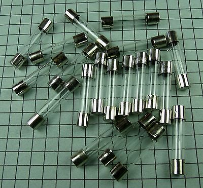 Fuse: 6x30mm : Fast Blow 0.1A 100ma 250V Glass : 20pcs per lot